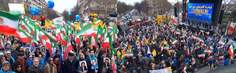 تظاهرات بزرگ ایرانیان – آینه خواست ملی برای سرنگونی نظام