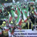 Demonstrationen von Iranern am Rande der Konferenz von Warschau; Aufruf zum Regimewandel