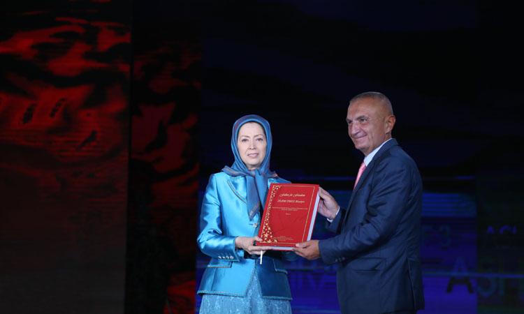 دیدار رئیس جمهور آلبانی از اشرف ۳ و ملاقات با خانم رجوی